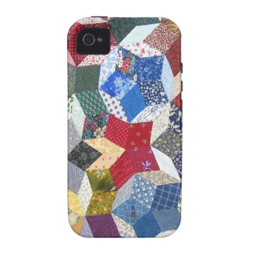 Wonky Star Quilt iPhone 4/4S Covers
