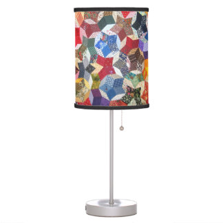 Wonky Star Quilt Desk Lamp