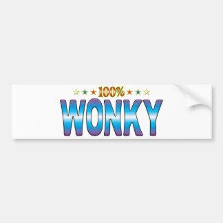 Wonky Star Tag v2 Bumper Stickers