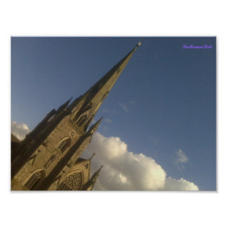 Wonky Steeple Poster