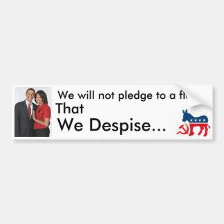 Won't pledge bumper sticker