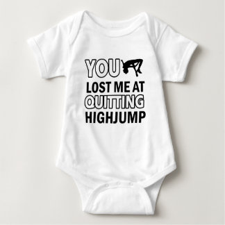 Won't quit High Jump Baby Bodysuit