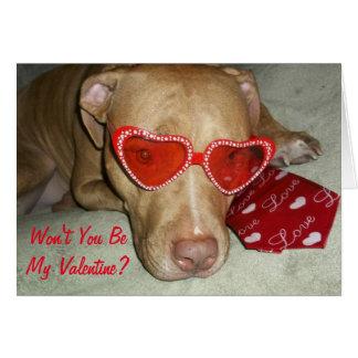 Won't you be my Valentine Dog Card
