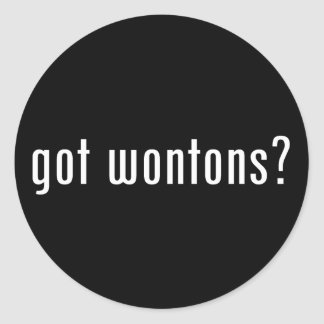 wonton classic round sticker