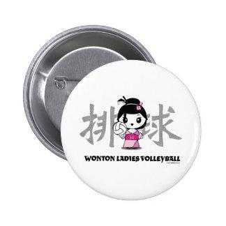 Wonton Ladies Volleyball Button