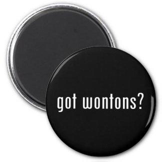 wonton 2 inch round magnet