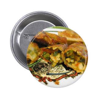 Wontons Food Pinback Buttons