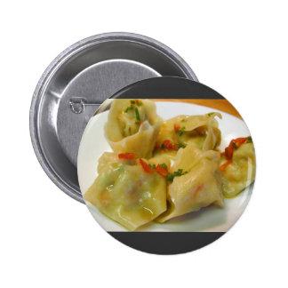 Wontons Foos Dinner Cooking Pinback Buttons