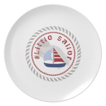 Beach Themed WONZ Limited little Sailor by shirt to design Dinner Plate
