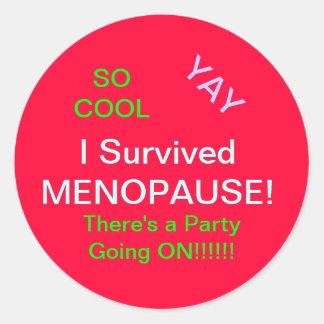Woo HOO Menopause STICKERS