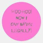 Woo-Hoo! Round Sticker