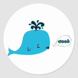Woob Whale Classic Round Sticker