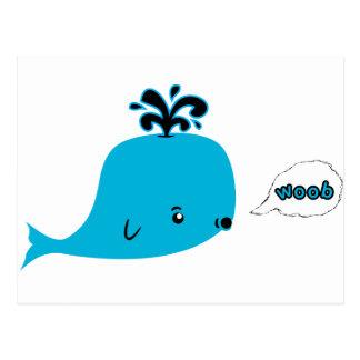 Woob Whale Postcard