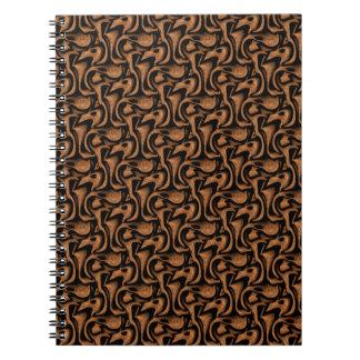 WOOD036 WOOD SWIRLS BROWN BLACK TEXTURES PATTERNS NOTEBOOKS