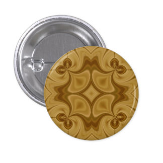 Wood Abstract Pattern 1 Inch Round Button