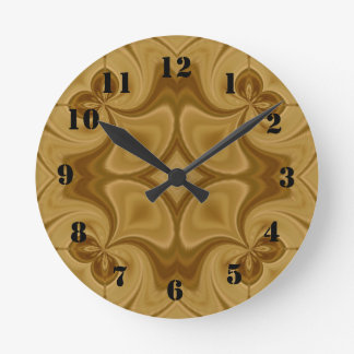 Wood Abstract Pattern Round Clock