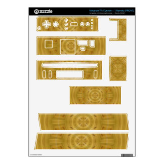 Wood abstract pattern decals for nintendo wii