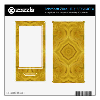 Wood abstract pattern decals for zune HD