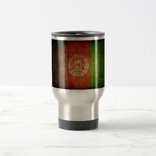 Wood Afghanistan Flag; Afghan Mug