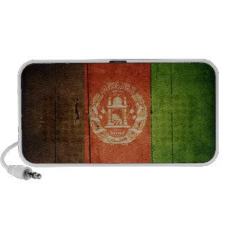 Wood Afghanistan Flag; Afghan Notebook Speakers