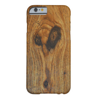Wood Alien Face Barely There iPhone 6 Case