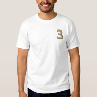 Wood Alphabet 3 Embroidered T-Shirt