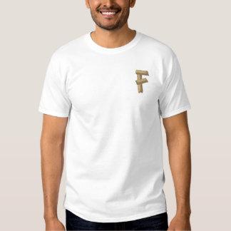 Wood Alphabet F Embroidered T-Shirt