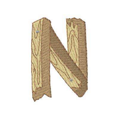 Wood Alphabet N