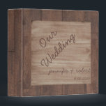 """Wood and Birch Country Wedding Album 3 Ring Binder<br><div class=""""desc"""">This fun design, called Barn Wood and Birch Country Wedding, has a rustic barn wood background. There is a light birch wood pattern inset in the middle to set off your text. This is a wonderful wedding set for a country, western, outdoor, or rustic themed wedding. This set has invitations,...</div>"""