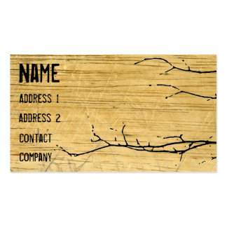 Wood and Ivy Business Card