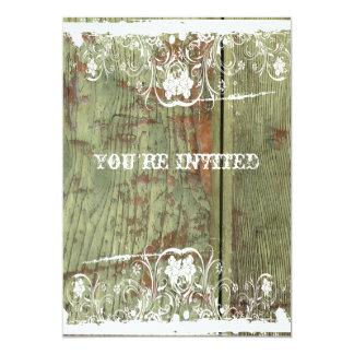 Wood and Lace Housewarming Invitation
