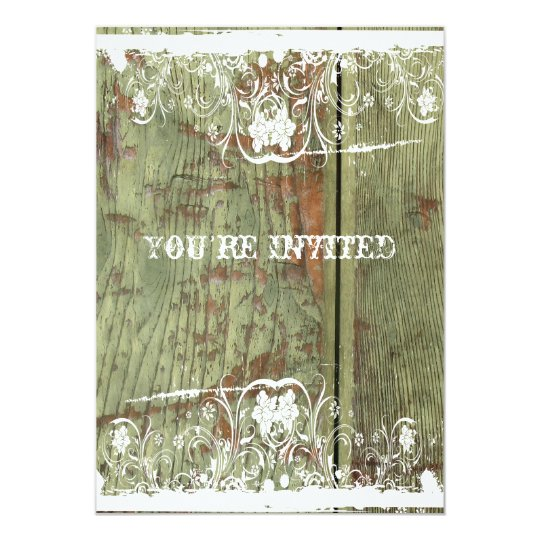 Wood and Lace Housewarming Invitation
