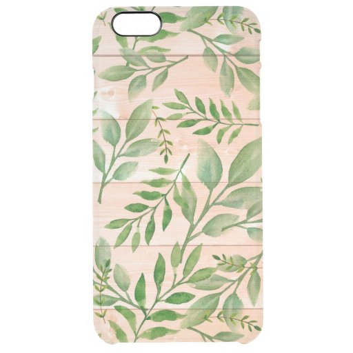 Wood And Leaves Clear iPhone 6 Plus Case