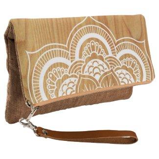 Wood and Mandala Clutch