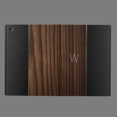 Wood and Metallic Look Monogrammed iPad Air 2 Case Powis iPad Air 2 Case