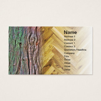 Wood and parquet business card