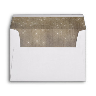 Wood and Romantic Dreamy Lights Rustic Envelope