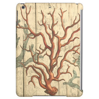 Wood and Small Coral iPad Air Covers