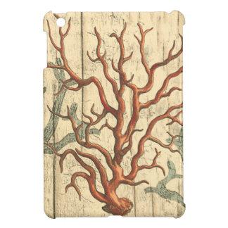 Wood and Small Coral iPad Mini Case