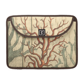 Wood and Small Coral MacBook Pro Sleeve