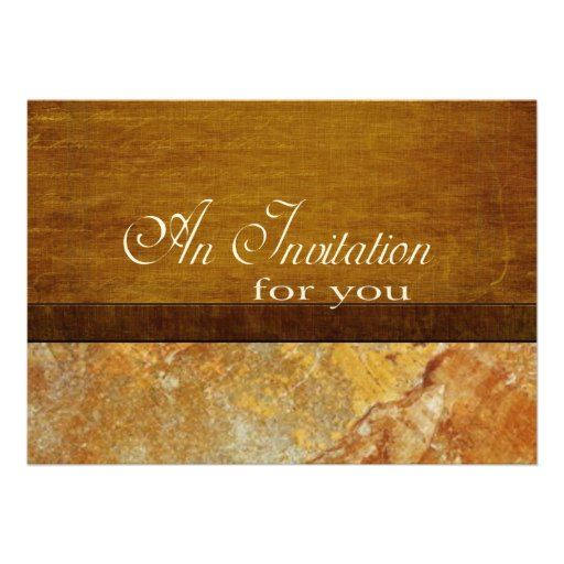 Wood and Stone Business Executive Retirement Personalized Invite