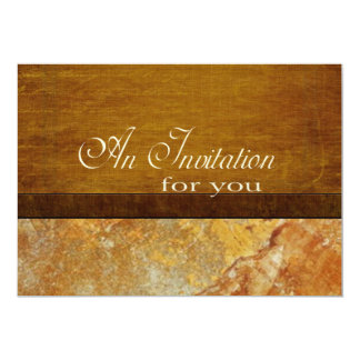 """Wood and Stone Business Executive Retirement 5"""" X 7"""" Invitation Card"""