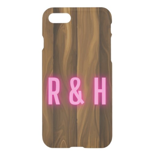 Wood And Text  iPhone SE/8/7 Case
