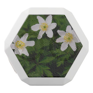 Wood Anemone White Flowers, Floral Photo White Bluetooth Speaker