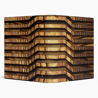 Wood Art 3 Ring Binder