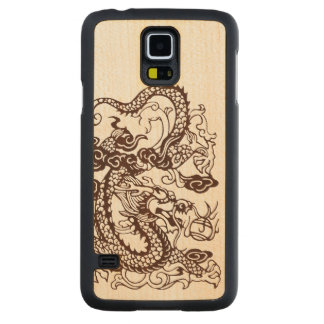 Wood Asian Chinese Imperial Dragon Carved® Maple Galaxy S5 Case