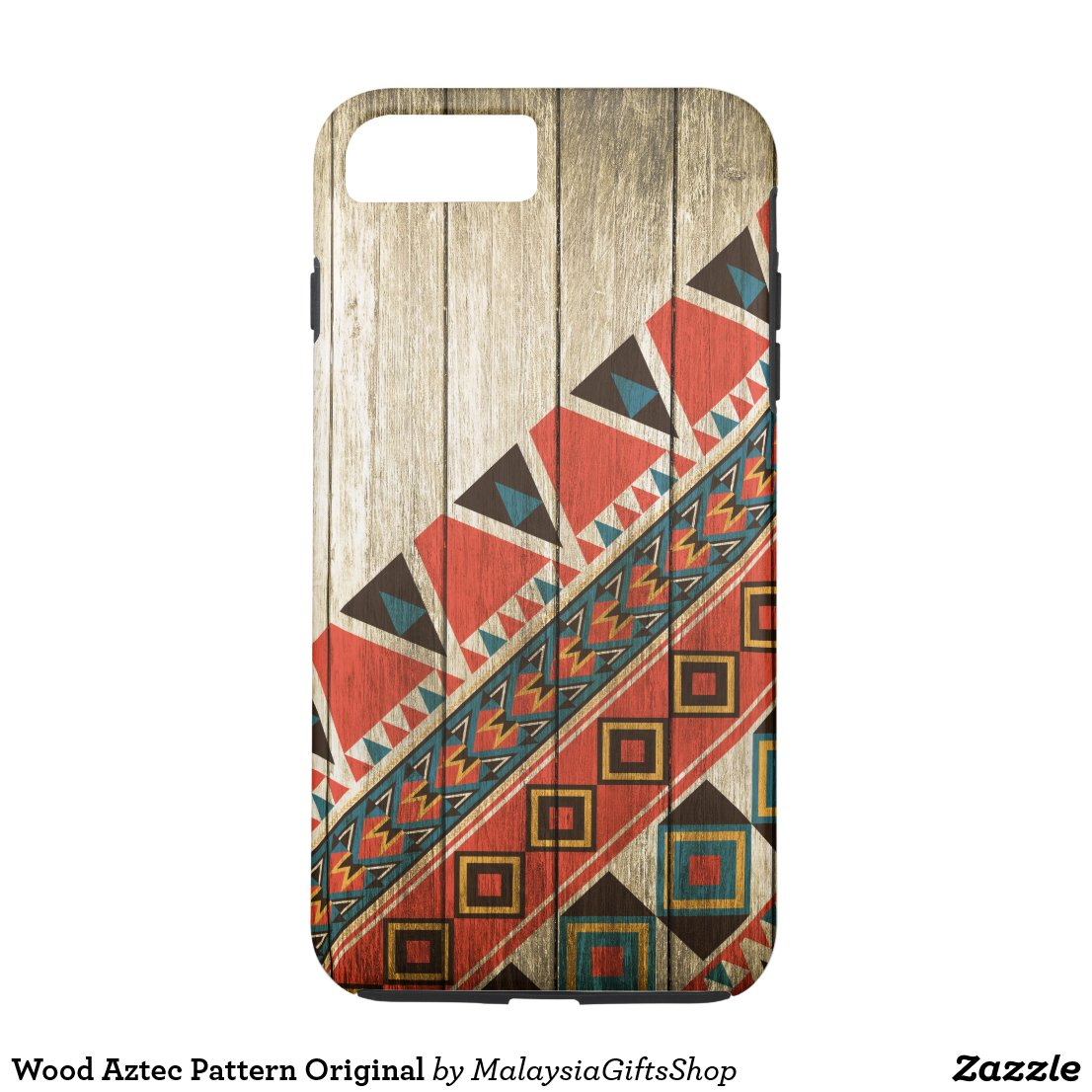 Wood Aztec Pattern Original iPhone 7 Plus Case