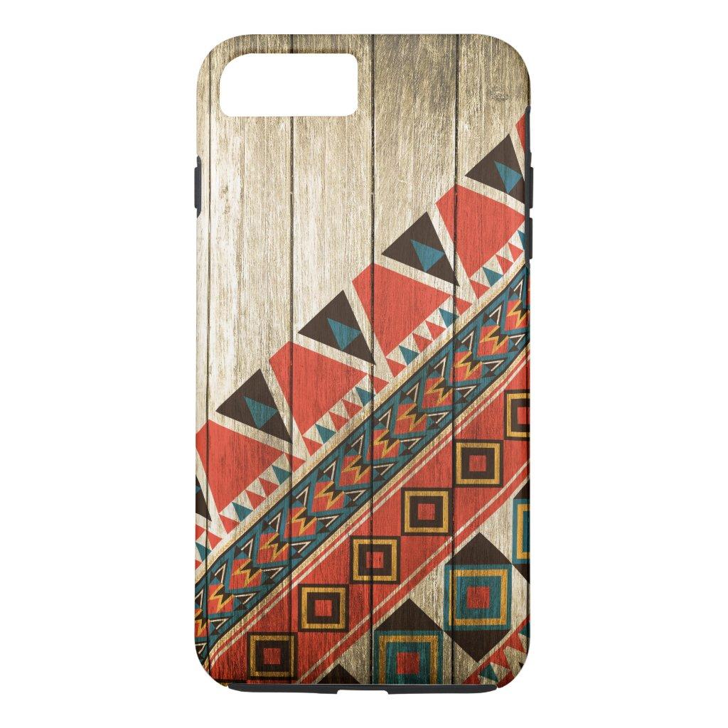 Wood Aztec Pattern Original iPhone 7 Plus Case