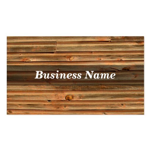 Wood Background Double Sided Standard Business Cards Pack