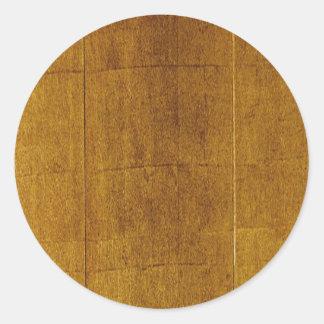 Wood Background Classic Round Sticker